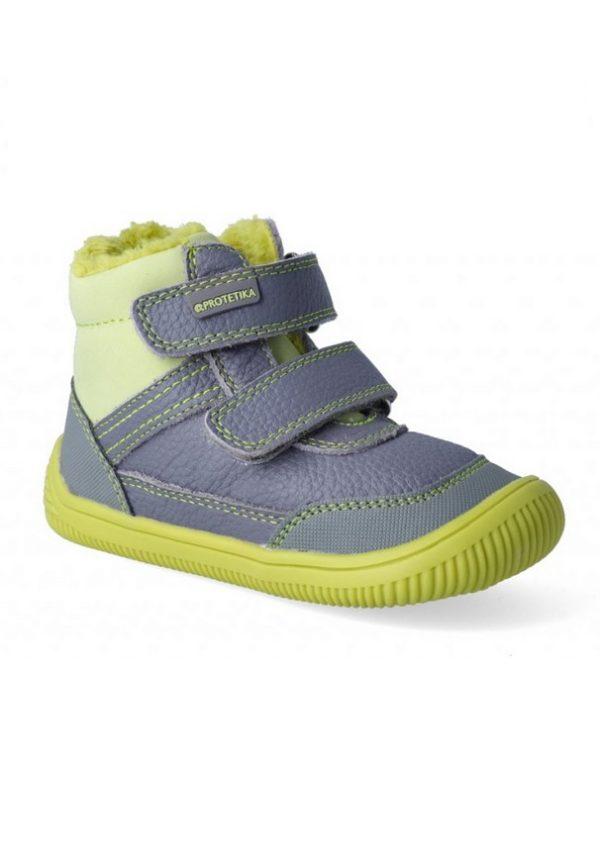 Úžasný model značky PROTETIKA Barefoot! Pohodlné chlapčenské zimné čižmy - model TYREL green. Vhodné na každodenné nosenie.