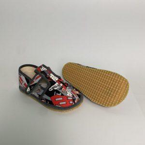 BEDA papuče chlapčenské - grafit - SLIM